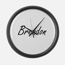 Brendon Artistic Name Design Large Wall Clock