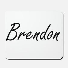 Brendon Artistic Name Design Mousepad