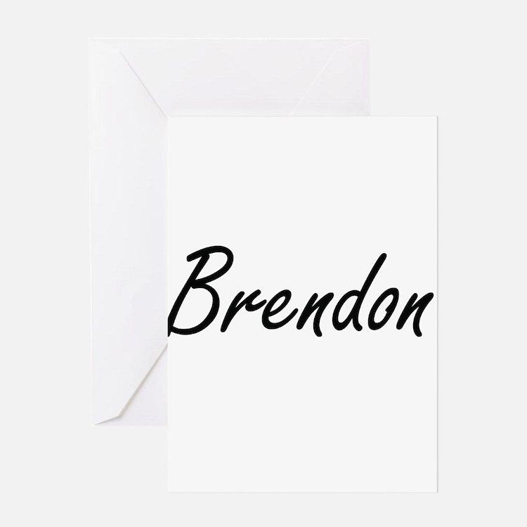 Brendon Artistic Name Design Greeting Cards