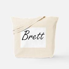 Brett Artistic Name Design Tote Bag