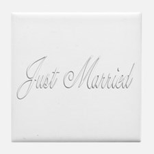 Just Married Tile Coaster