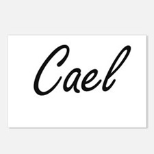 Cael Artistic Name Design Postcards (Package of 8)