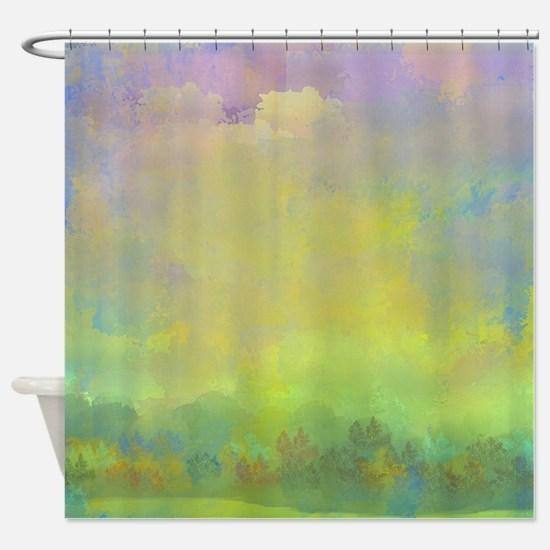 An Early Fall Shower Curtain