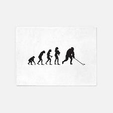 Ice Hockey 5'x7'Area Rug