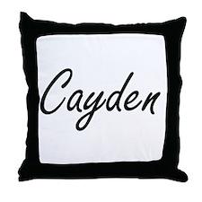 Cayden Artistic Name Design Throw Pillow