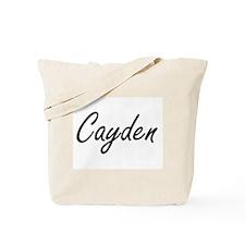 Cayden Artistic Name Design Tote Bag