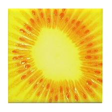 Yellow Kiwi Art Tile