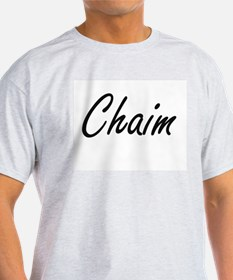 Chaim Artistic Name Design T-Shirt