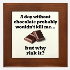 A DAY WITHOUT CHOCOLATE PROBABLY WOULD Framed Tile