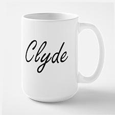 Clyde Artistic Name Design Mugs