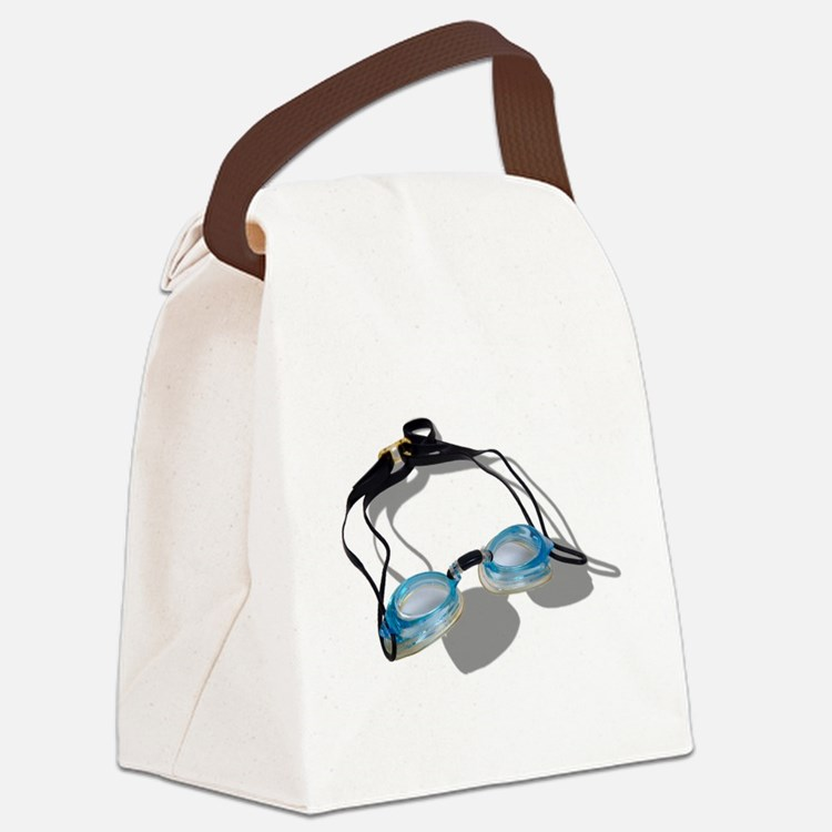 SwimmingGoggles091210.png Canvas Lunch Bag