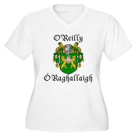 O'Reilly In Irish & English Plus Size V-Neck Tee