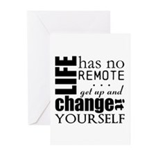 No Remote Greeting Cards