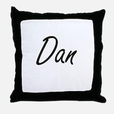 Dan Artistic Name Design Throw Pillow