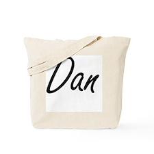 Dan Artistic Name Design Tote Bag