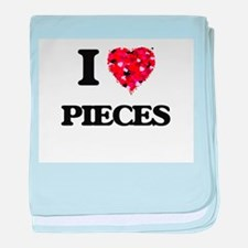 I Love Pieces baby blanket