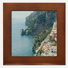 Amalfi Coastline Framed Tile