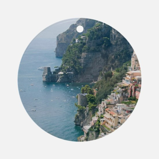 Amalfi Coastline Round Ornament