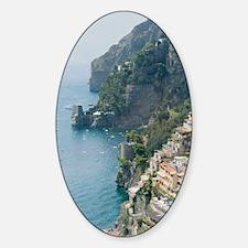 Amalfi Coastline Sticker (Oval)