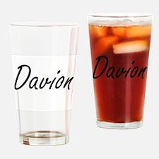 Davion Artistic Name Design Drinking Glass