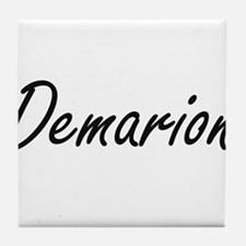 Demarion Artistic Name Design Tile Coaster