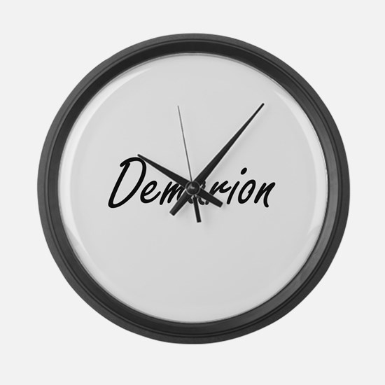 Demarion Artistic Name Design Large Wall Clock