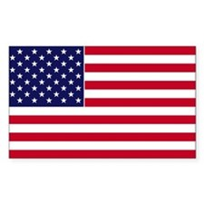 US Flag Rectangle Decal