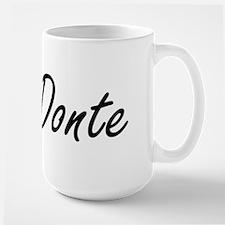 Donte Artistic Name Design Mugs