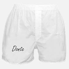 Donte Artistic Name Design Boxer Shorts