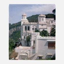 Italy, Capri overlook Throw Blanket