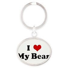 Cute Bear Oval Keychain