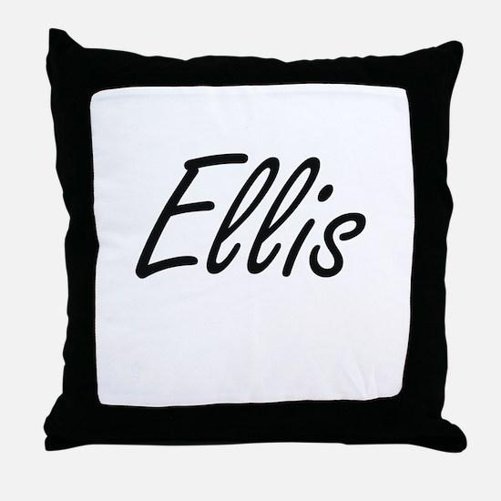 Ellis Artistic Name Design Throw Pillow