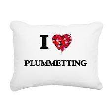 I Love Plummetting Rectangular Canvas Pillow