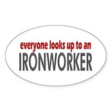 Ironworker Oval Decal
