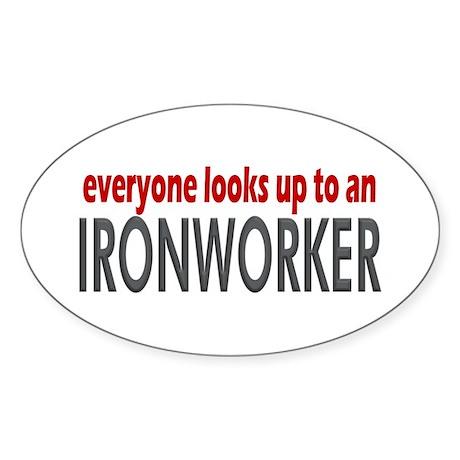 Ironworker Oval Sticker