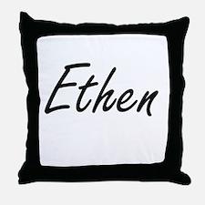 Ethen Artistic Name Design Throw Pillow