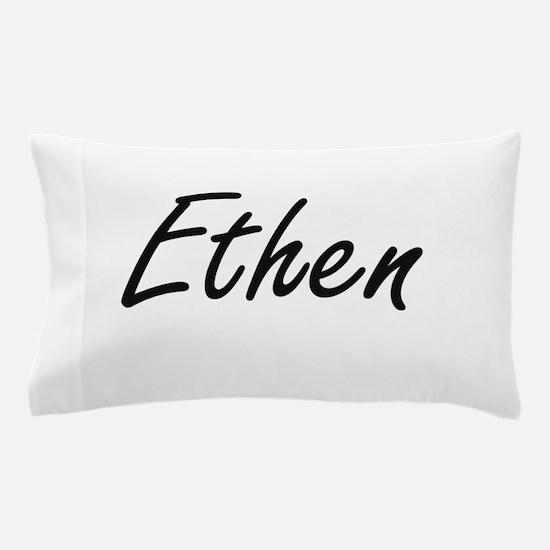 Ethen Artistic Name Design Pillow Case