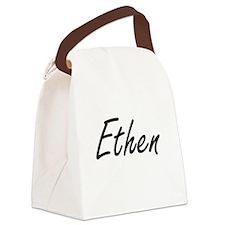 Ethen Artistic Name Design Canvas Lunch Bag