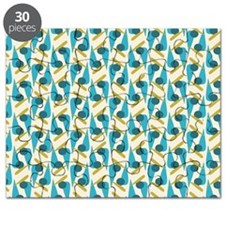 Retro Teal Pattern Puzzle