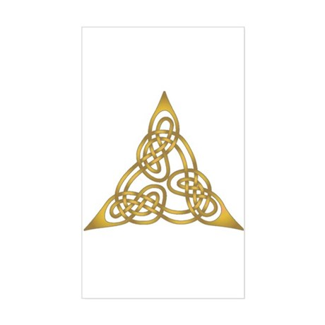 Celtic Knot 64 Rectangle Decal by bobbis_book