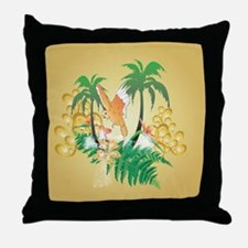 Funny budgerigars Throw Pillow