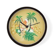 Funny budgerigars Wall Clock