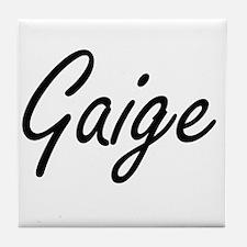 Gaige Artistic Name Design Tile Coaster