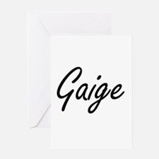Gaige Artistic Name Design Greeting Cards