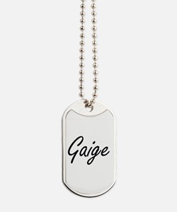 Gaige Artistic Name Design Dog Tags