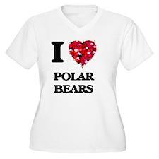 I Love Polar Bears Plus Size T-Shirt