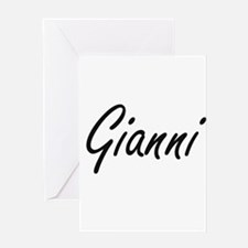 Gianni Artistic Name Design Greeting Cards