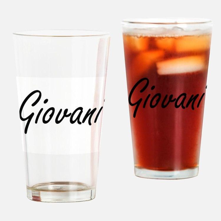 Giovani Artistic Name Design Drinking Glass