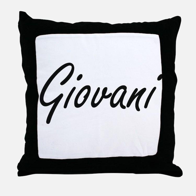 Giovani Artistic Name Design Throw Pillow