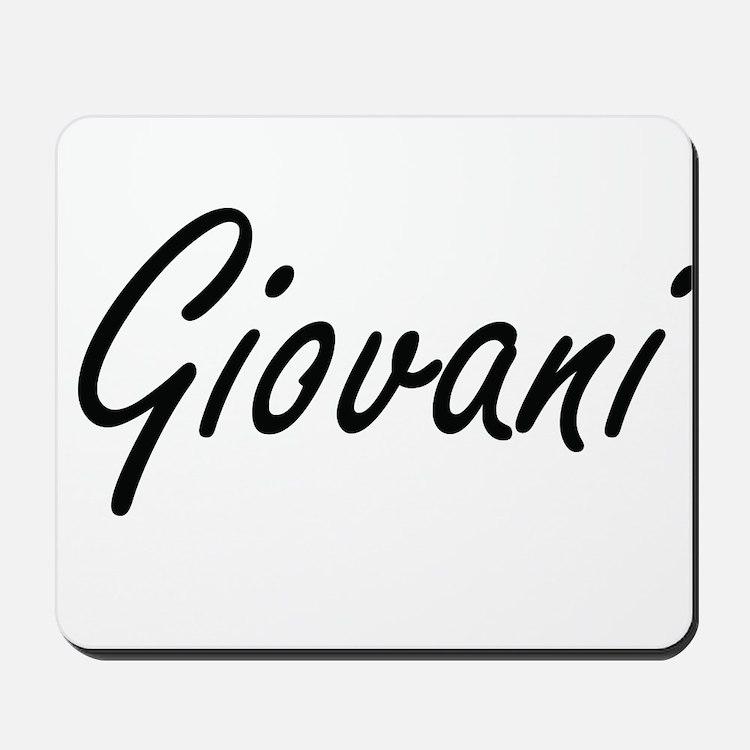 Giovani Artistic Name Design Mousepad